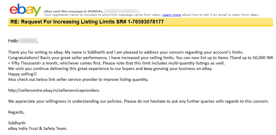 Ebay Selling Limits Increased