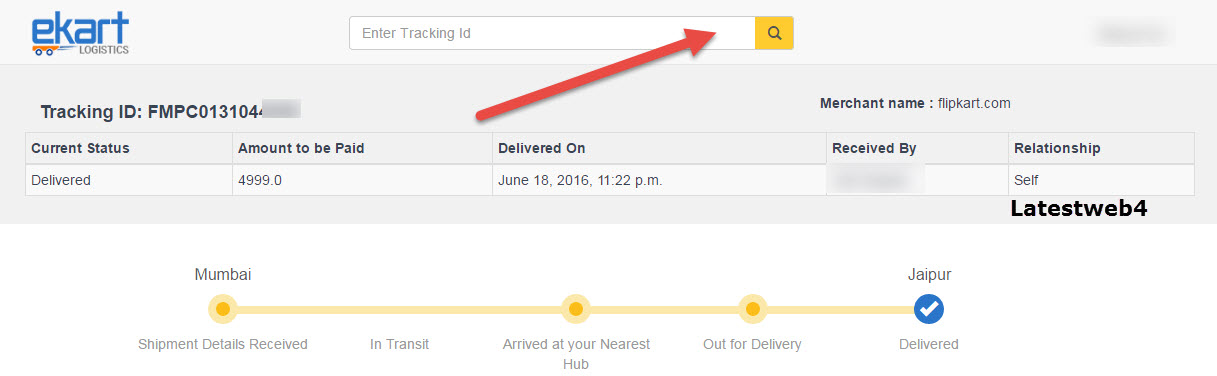 Ekart Logistics Tracking