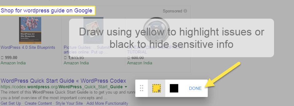 Google Search Feedback final step