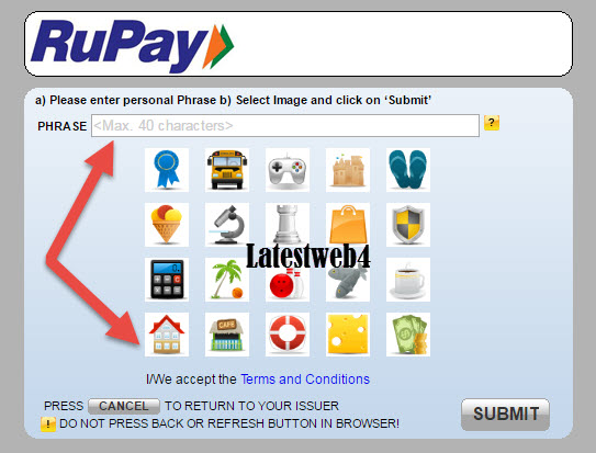 Rupay Paysecure Registration step 4