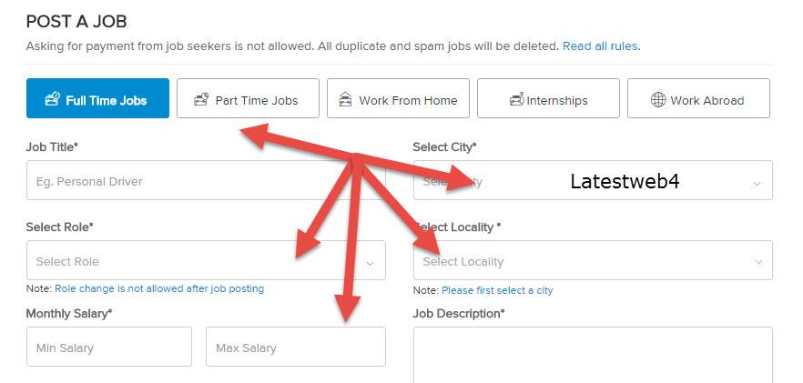 post job for hiring writers