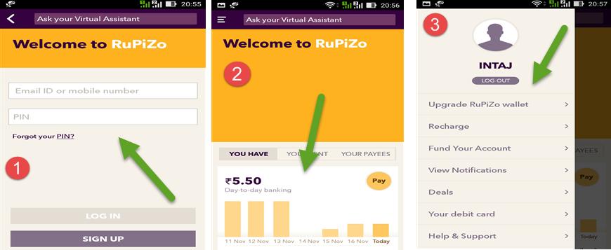 How To Use RuPiZo App
