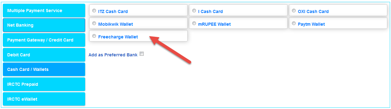 Use Freecharge Wallet Balance For IRCTC Train Booking