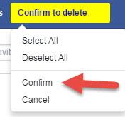 confirm delete command