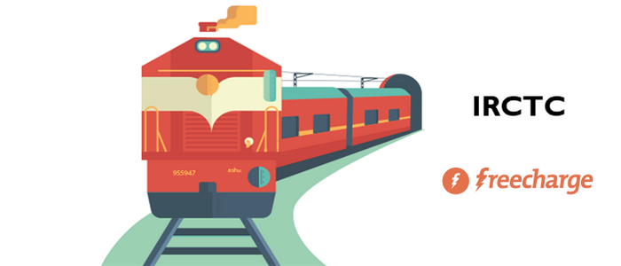 pay with Freecharge on IRCTC