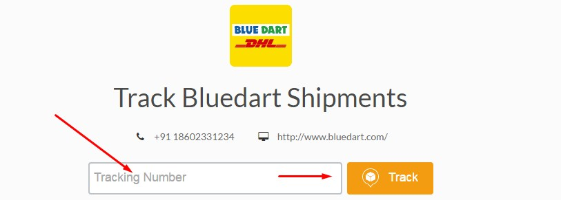 aftership bluedart tracking service