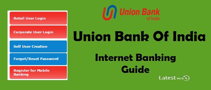 union bank internet banking self user creation