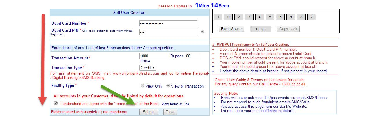union bank online banking registration guide